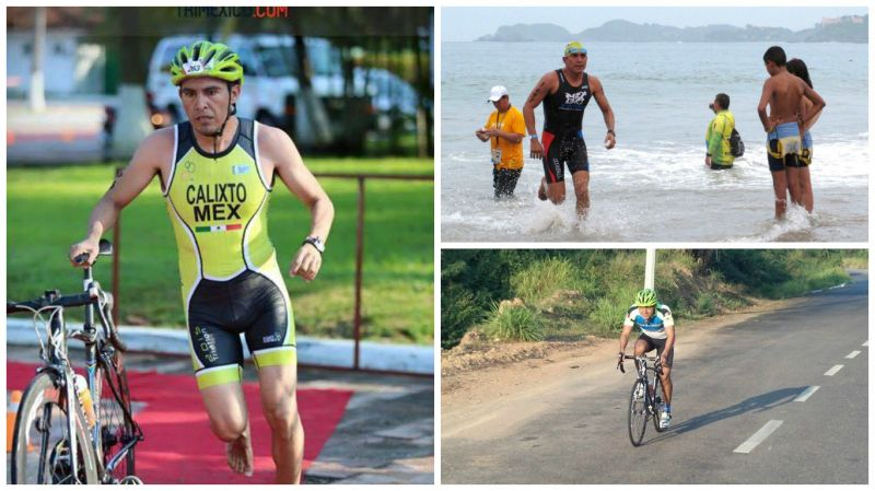 Triatleta Pablo Calixto
